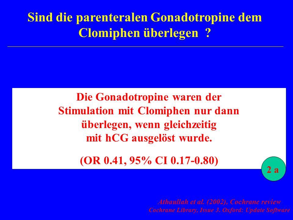 Sind die parenteralen Gonadotropine dem Clomiphen überlegen