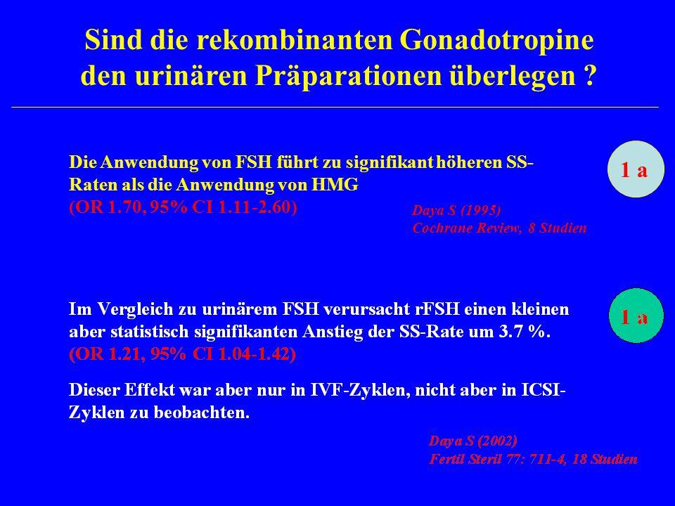 Sind die rekombinanten Gonadotropine