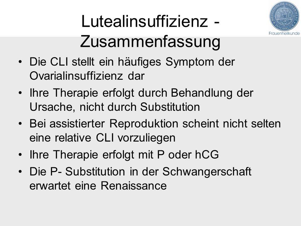 Lutealinsuffizienz - Zusammenfassung