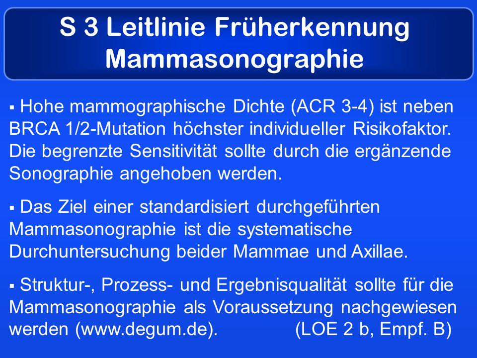 S 3 Leitlinie Früherkennung Mammasonographie