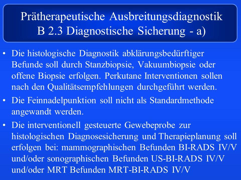 Prätherapeutische Ausbreitungsdiagnostik B 2