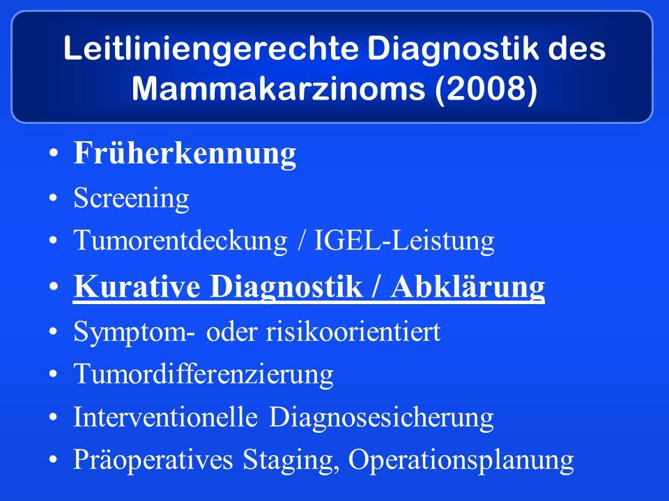 Leitliniengerechte Diagnostik des Mammakarzinoms (2008)