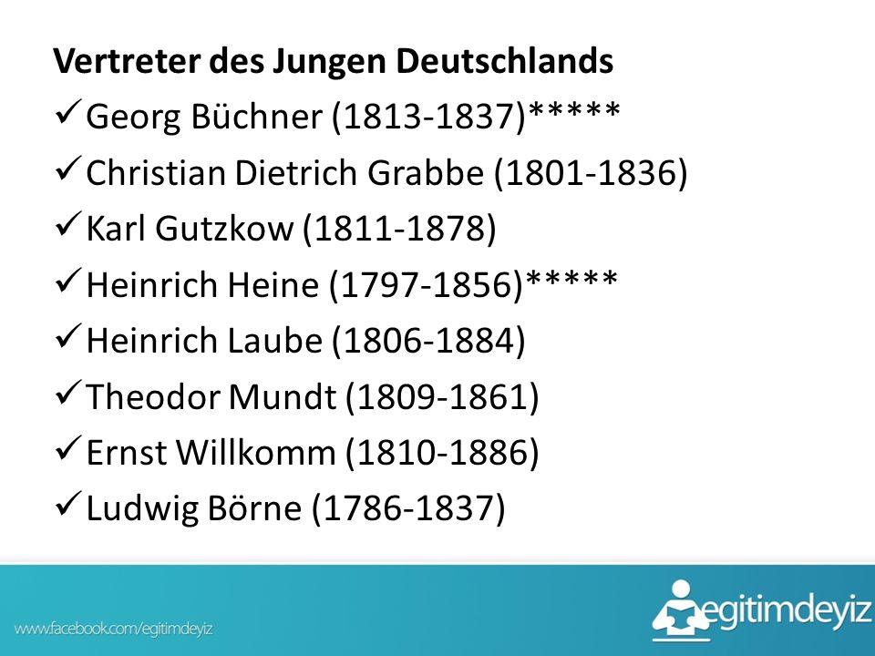 Vertreter des Jungen Deutschlands
