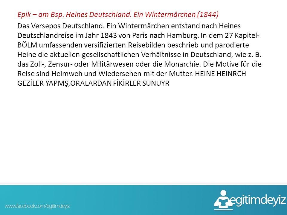 Epik – am Bsp. Heines Deutschland