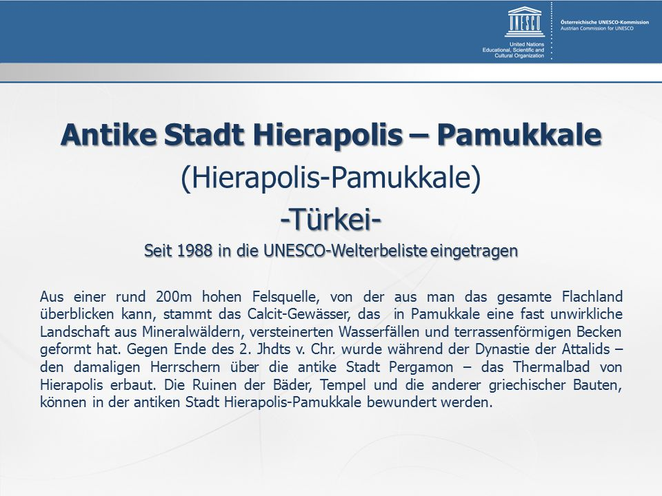 Antike Stadt Hierapolis – Pamukkale