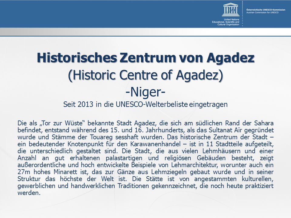 Historisches Zentrum von Agadez