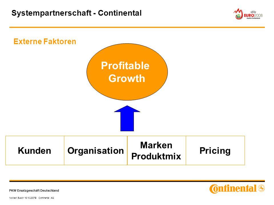 Profitable Growth Kunden Organisation Marken Produktmix Pricing