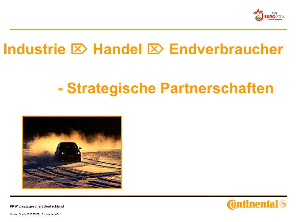 Industrie  Handel  Endverbraucher - Strategische Partnerschaften