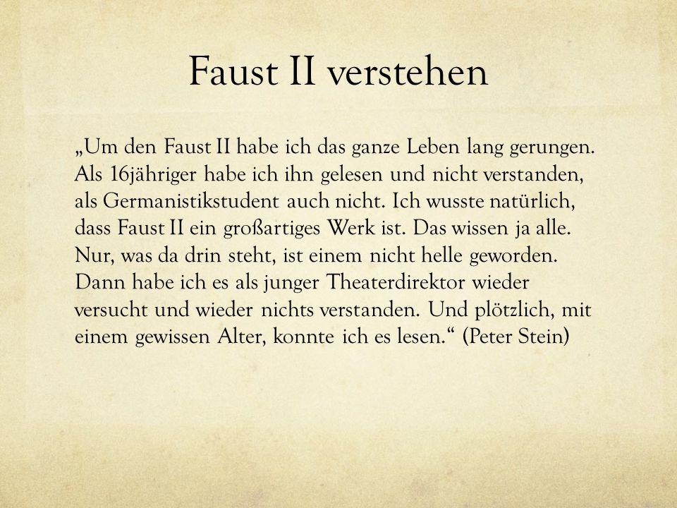 Faust II verstehen