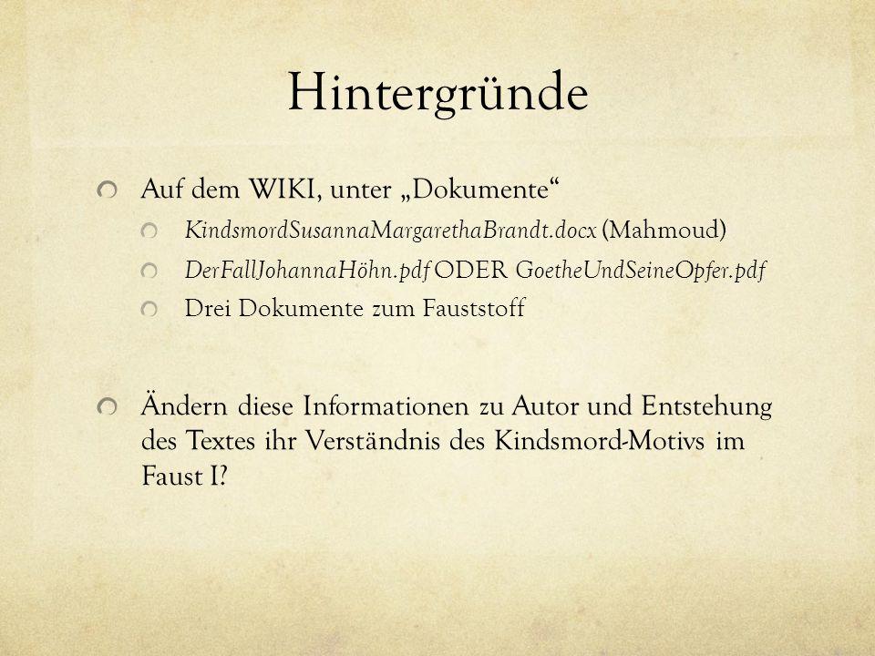 """Hintergründe Auf dem WIKI, unter """"Dokumente"""