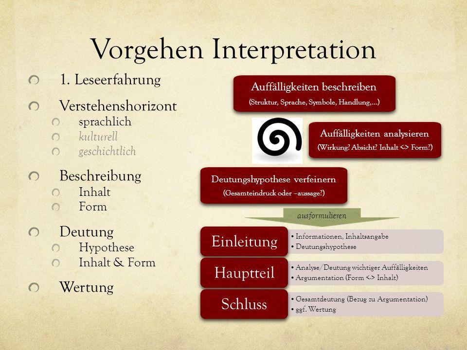 Vorgehen Interpretation