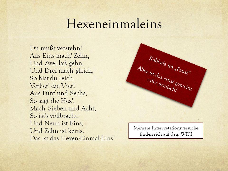 Hexeneinmaleins