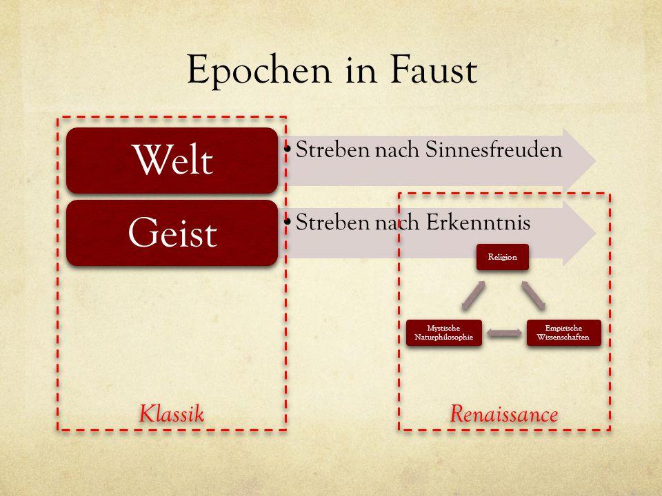 Epochen in Faust Welt Geist Klassik Renaissance