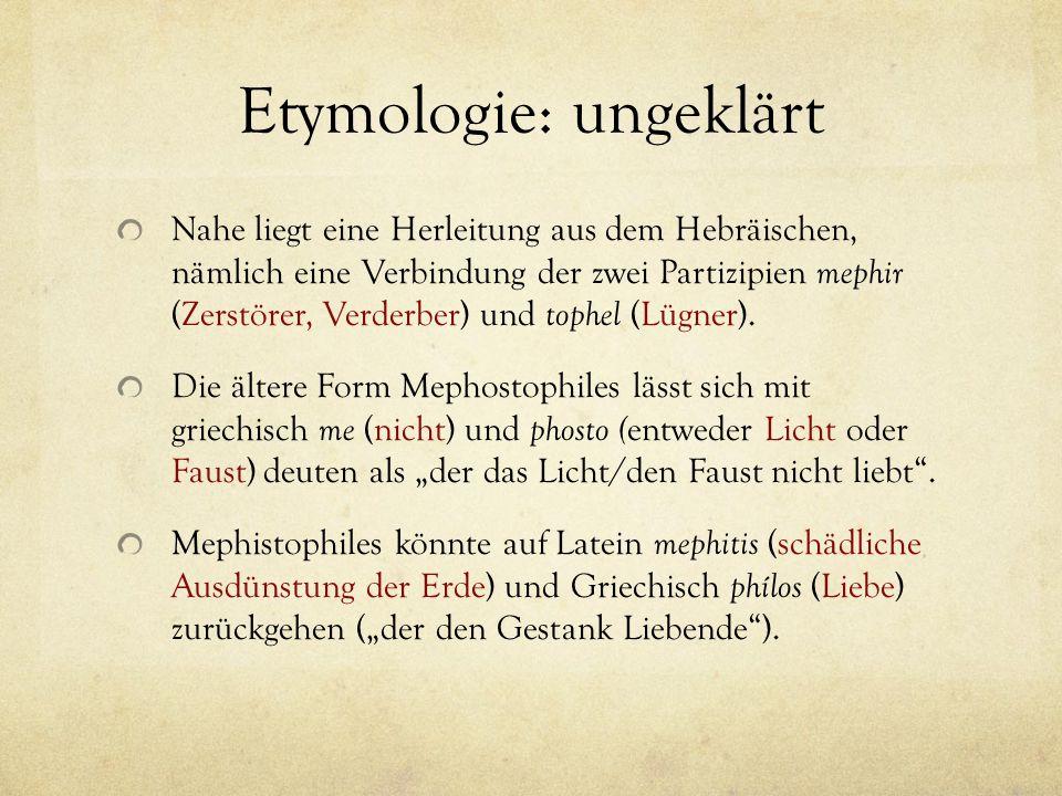 Etymologie: ungeklärt