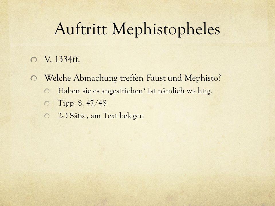 Auftritt Mephistopheles