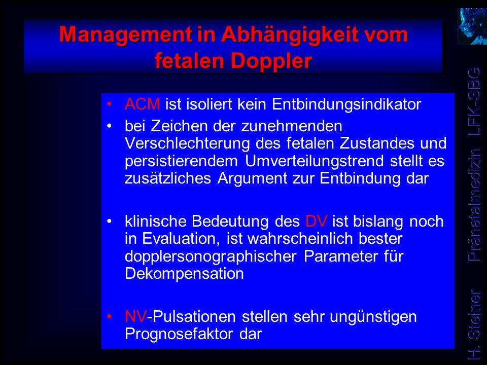 Management in Abhängigkeit vom fetalen Doppler