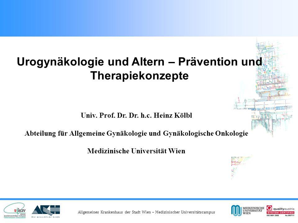 Urogynäkologie und Altern – Prävention und Therapiekonzepte