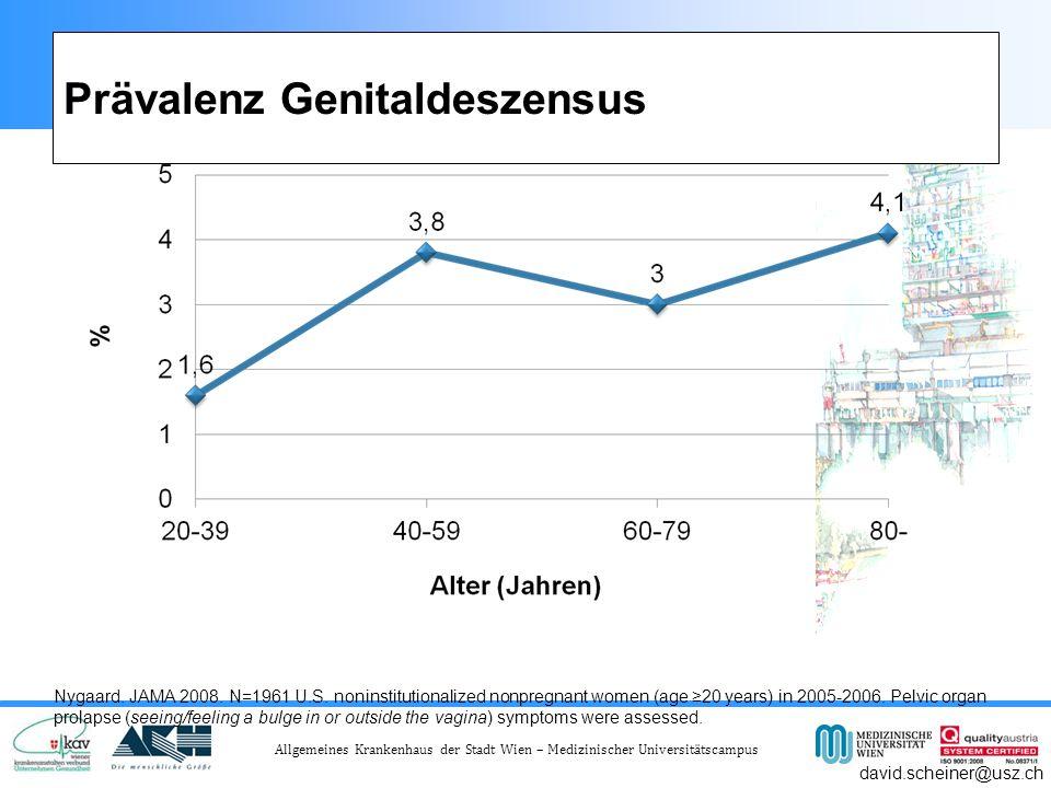 Prävalenz Genitaldeszensus