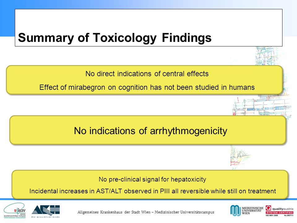 Summary of Toxicology Findings
