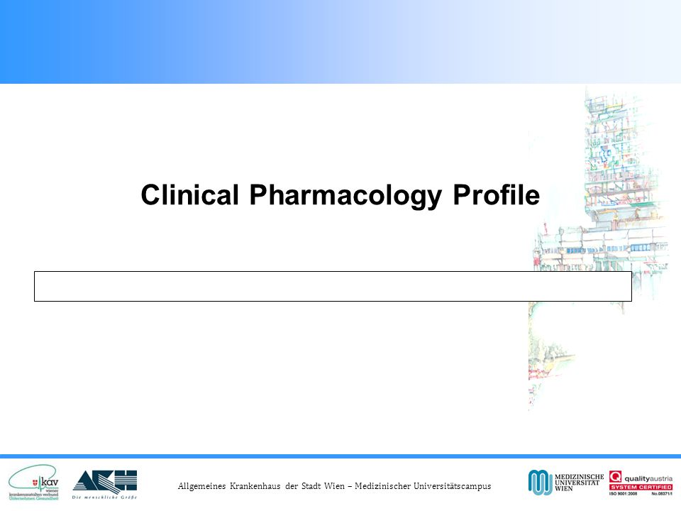 Clinical Pharmacology Profile