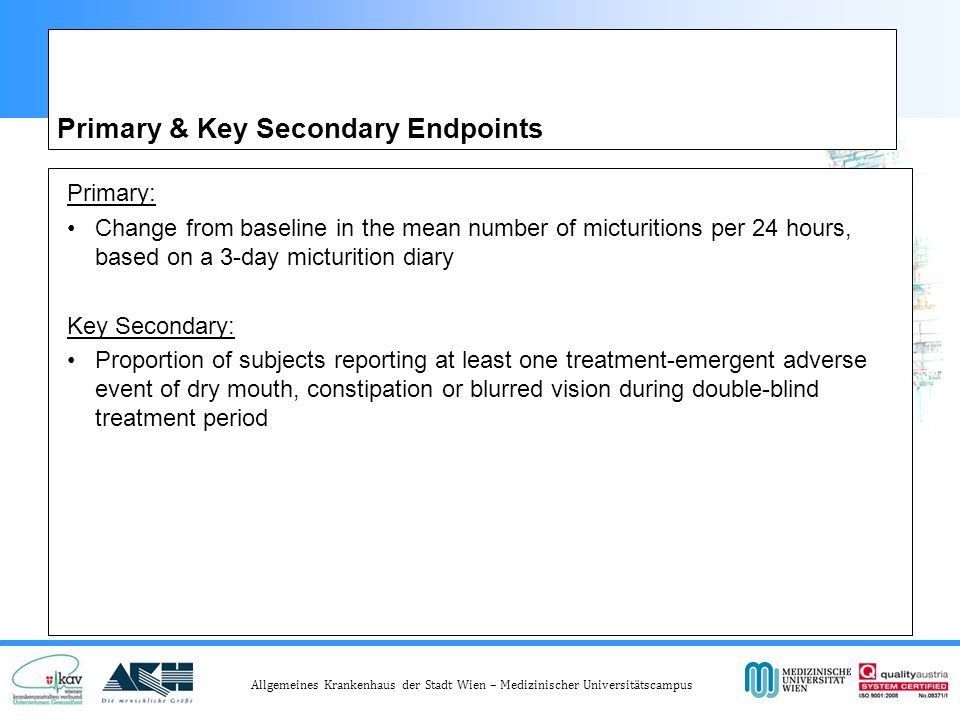 Primary & Key Secondary Endpoints