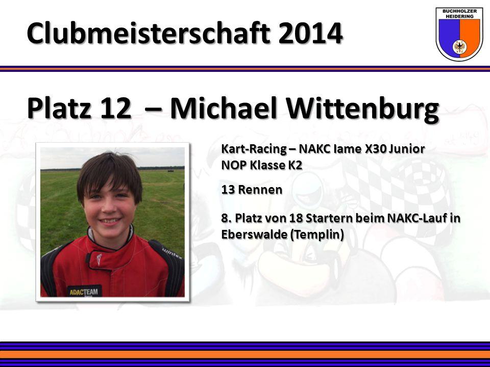 Clubmeisterschaft 2014 Platz 12 – Michael Wittenburg