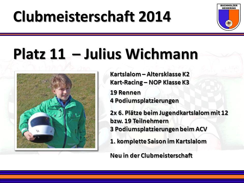 Clubmeisterschaft 2014 Platz 11 – Julius Wichmann