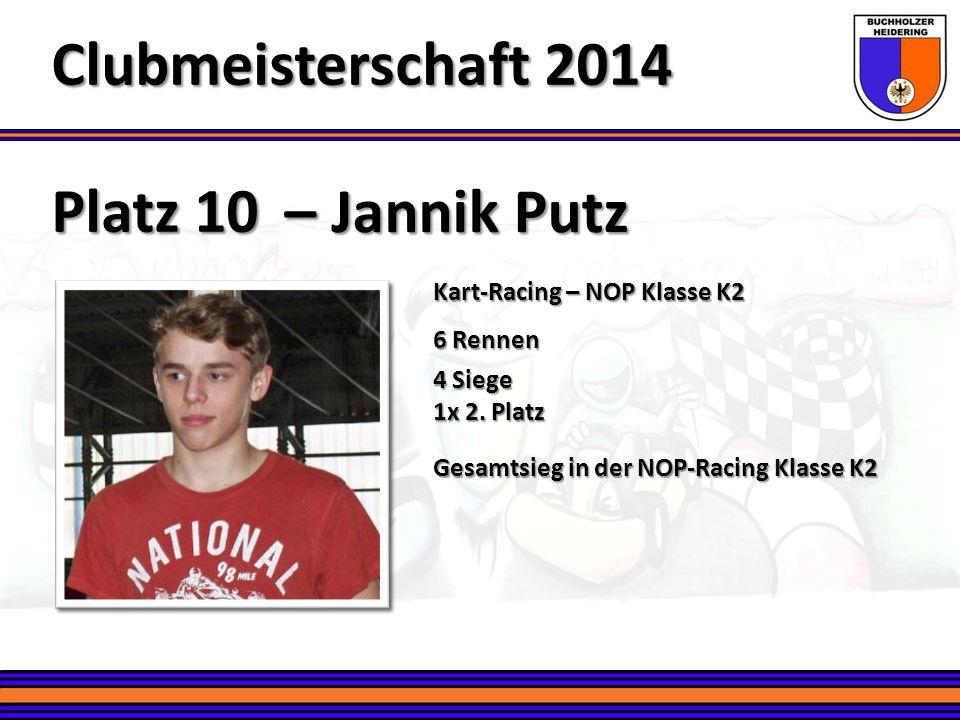 Clubmeisterschaft 2014 Platz 10 – Jannik Putz