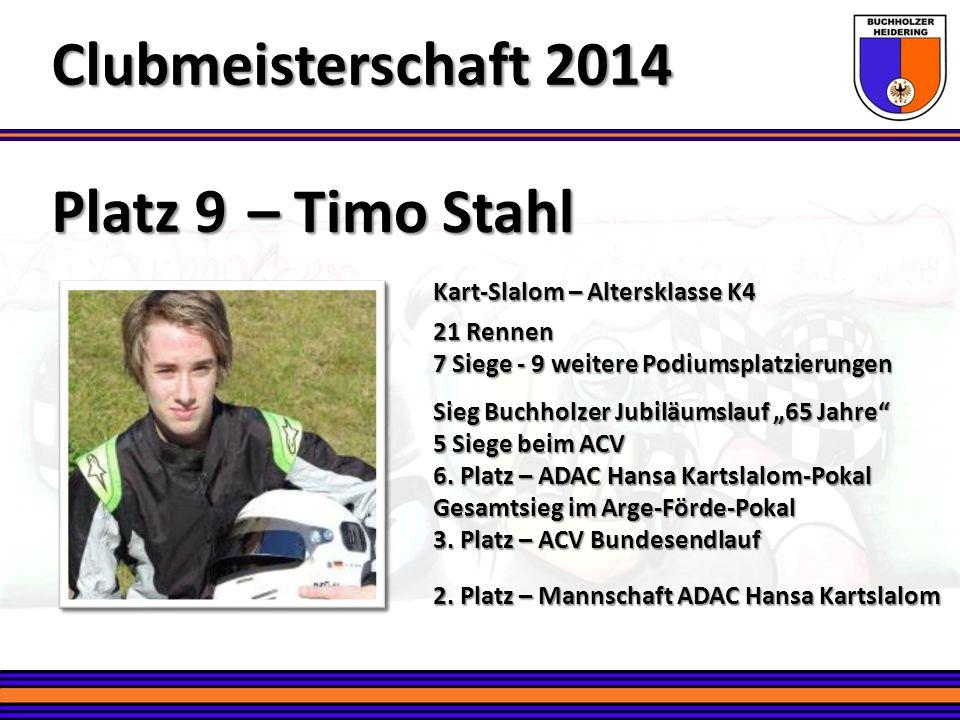 Clubmeisterschaft 2014 Platz 9 – Timo Stahl