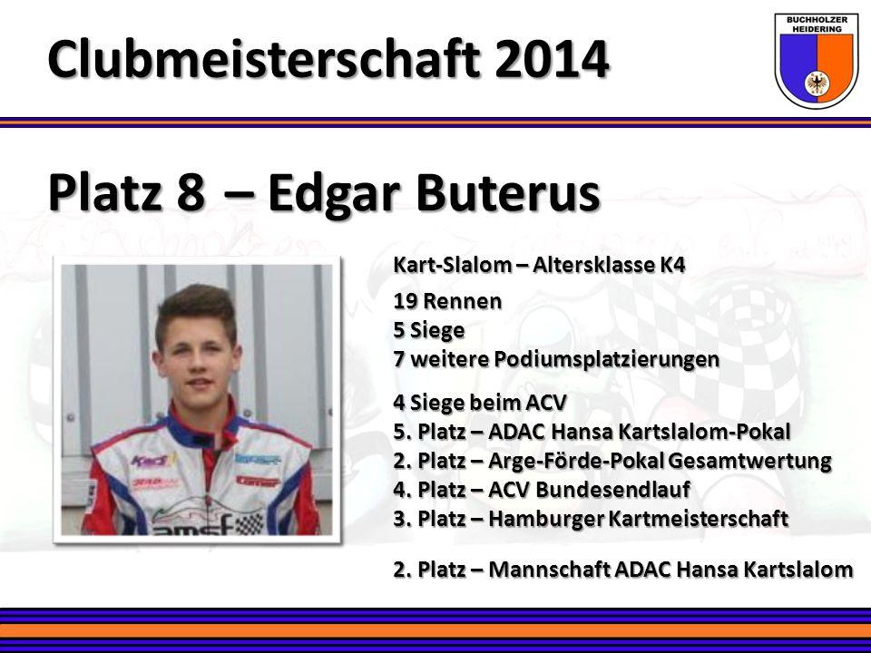 Clubmeisterschaft 2014 Platz 8 – Edgar Buterus