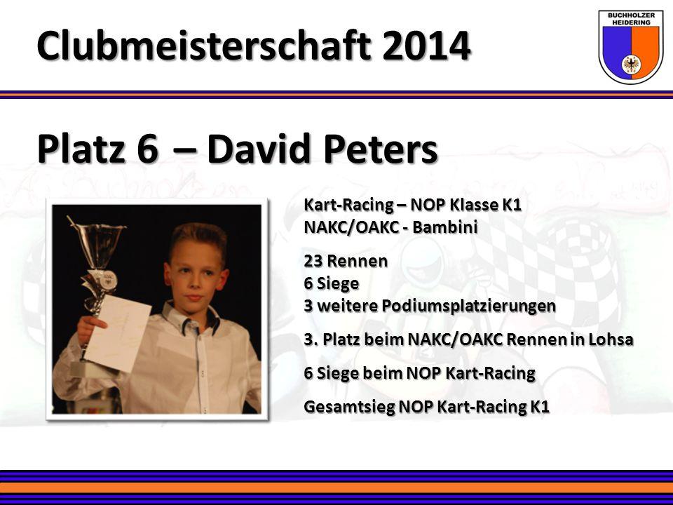 Clubmeisterschaft 2014 Platz 6 – David Peters