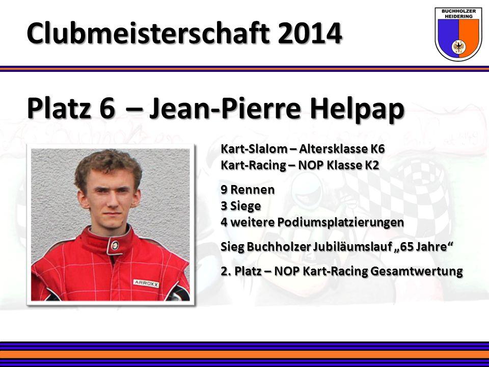 Clubmeisterschaft 2014 Platz 6 – Jean-Pierre Helpap