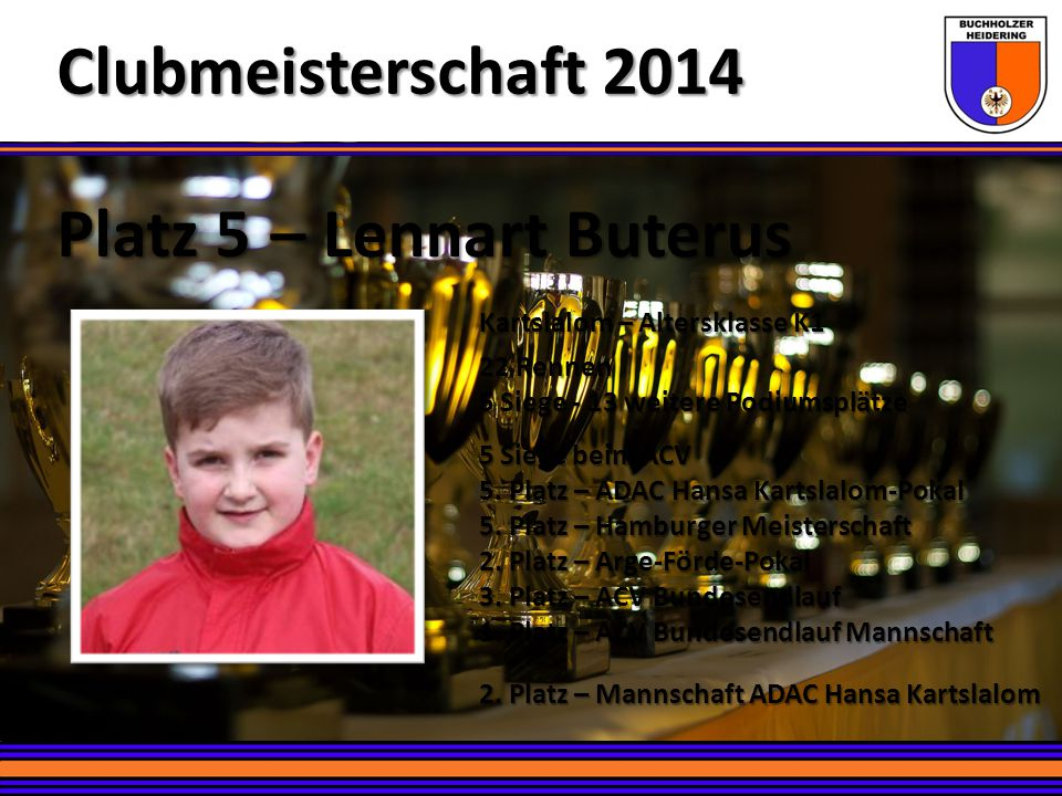 Clubmeisterschaft 2014 Platz 5 – Lennart Buterus