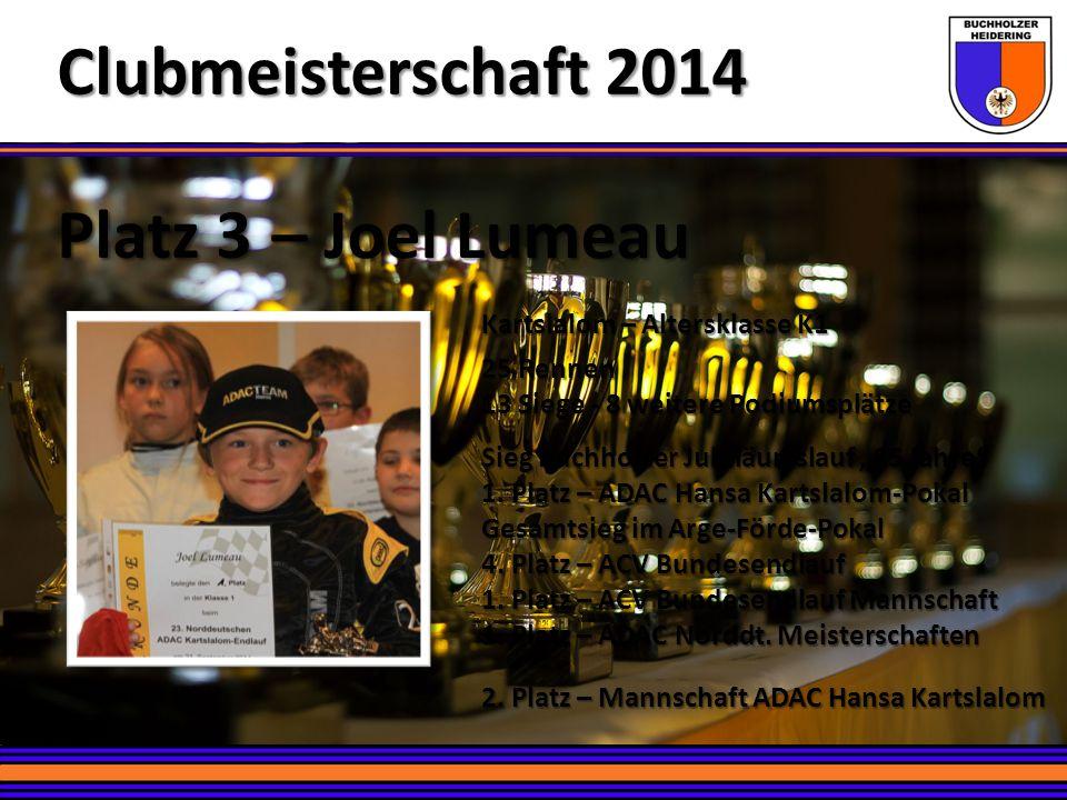 Clubmeisterschaft 2014 Platz 3 – Joel Lumeau