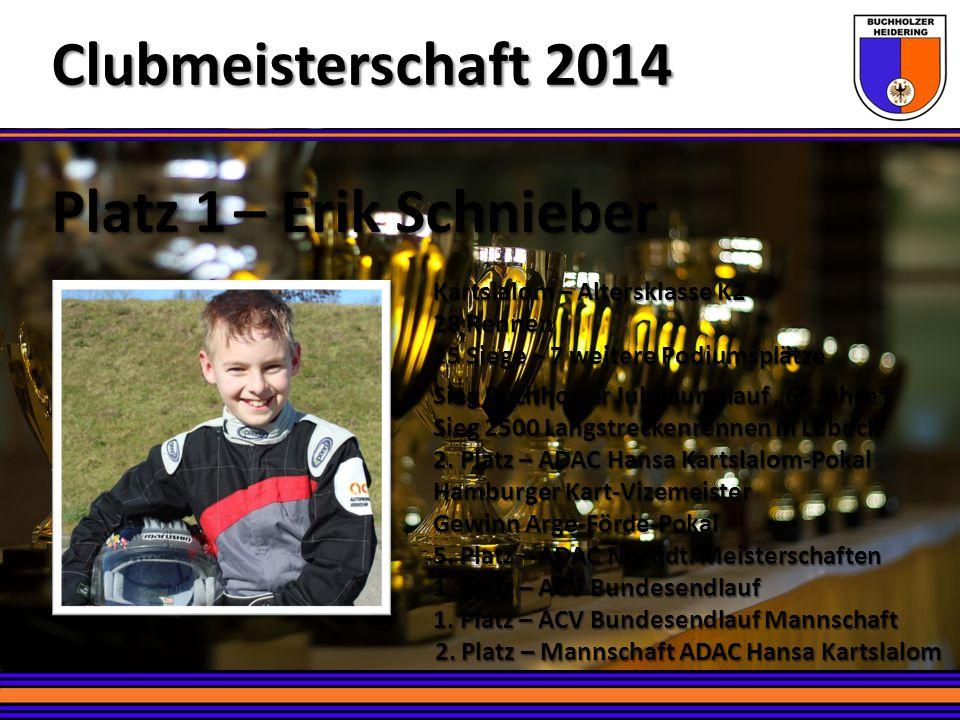 Clubmeisterschaft 2014 Platz 1 – Erik Schnieber