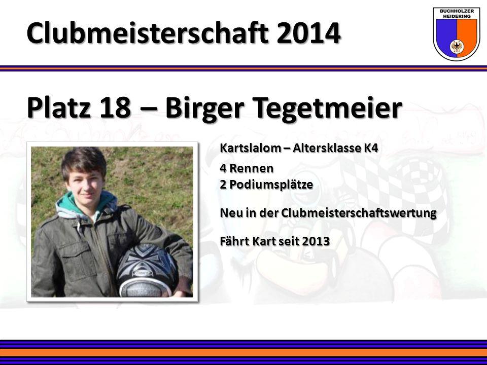 Clubmeisterschaft 2014 – Birger Tegetmeier Platz 18