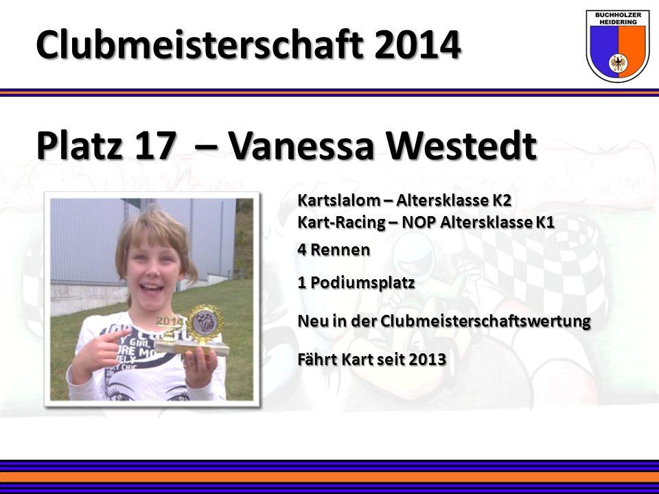 Clubmeisterschaft 2014 Platz 17 – Vanessa Westedt