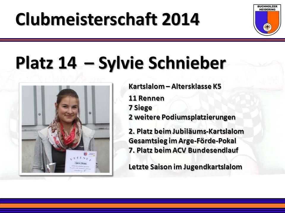 Clubmeisterschaft 2014 Platz 14 – Sylvie Schnieber