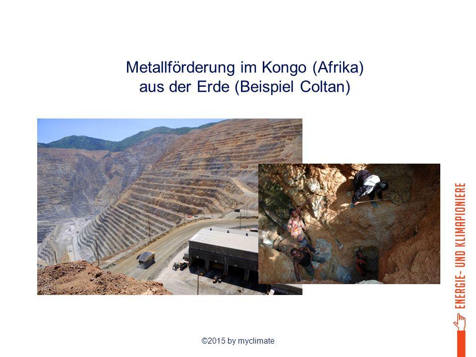 Metallförderung im Kongo (Afrika) aus der Erde (Beispiel Coltan)
