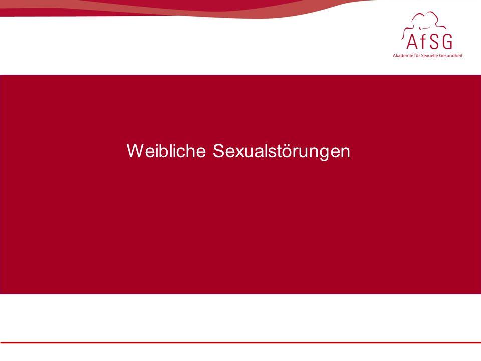 Weibliche Sexualstörungen