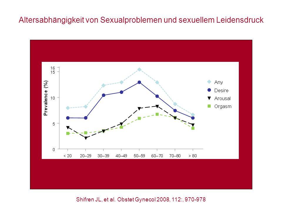 Altersabhängigkeit von Sexualproblemen und sexuellem Leidensdruck