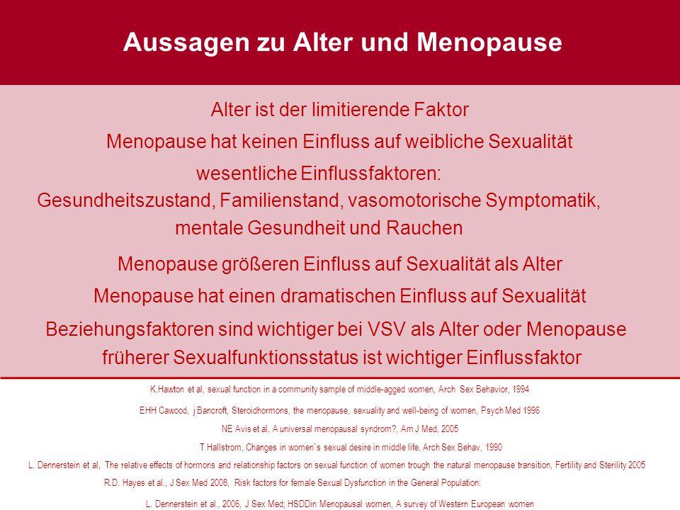 Aussagen zu Alter und Menopause