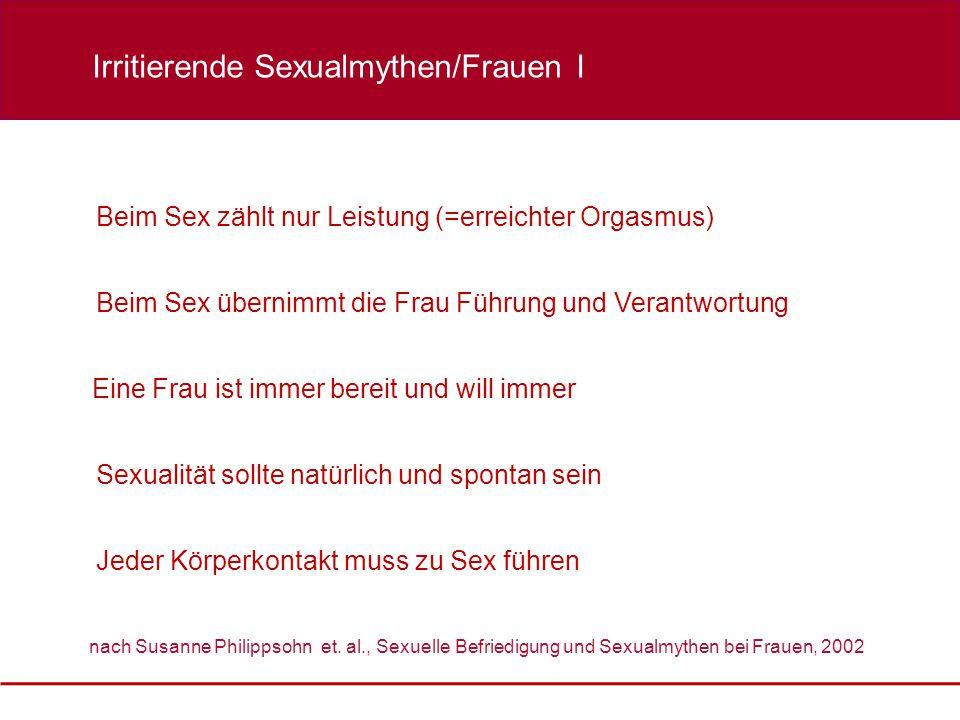 Irritierende Sexualmythen/Frauen I
