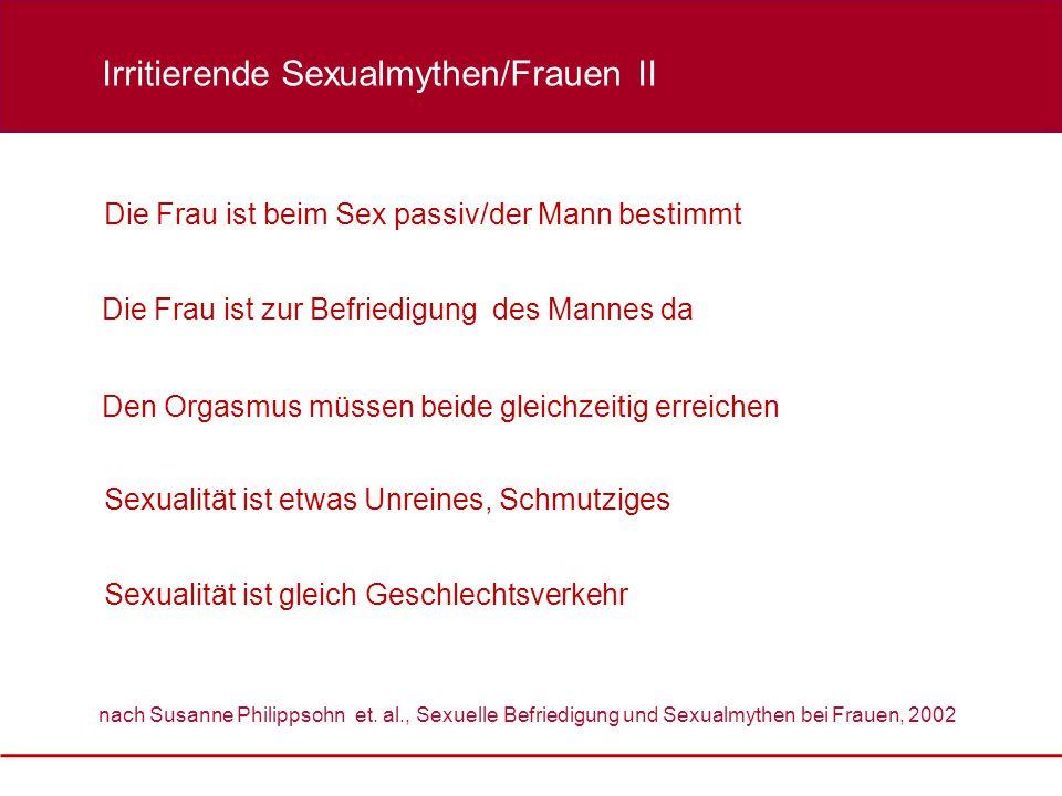 Irritierende Sexualmythen/Frauen II