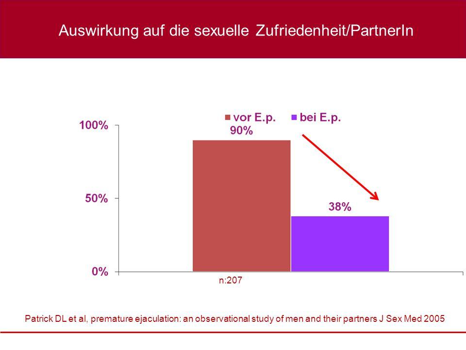 Auswirkung auf die sexuelle Zufriedenheit/PartnerIn