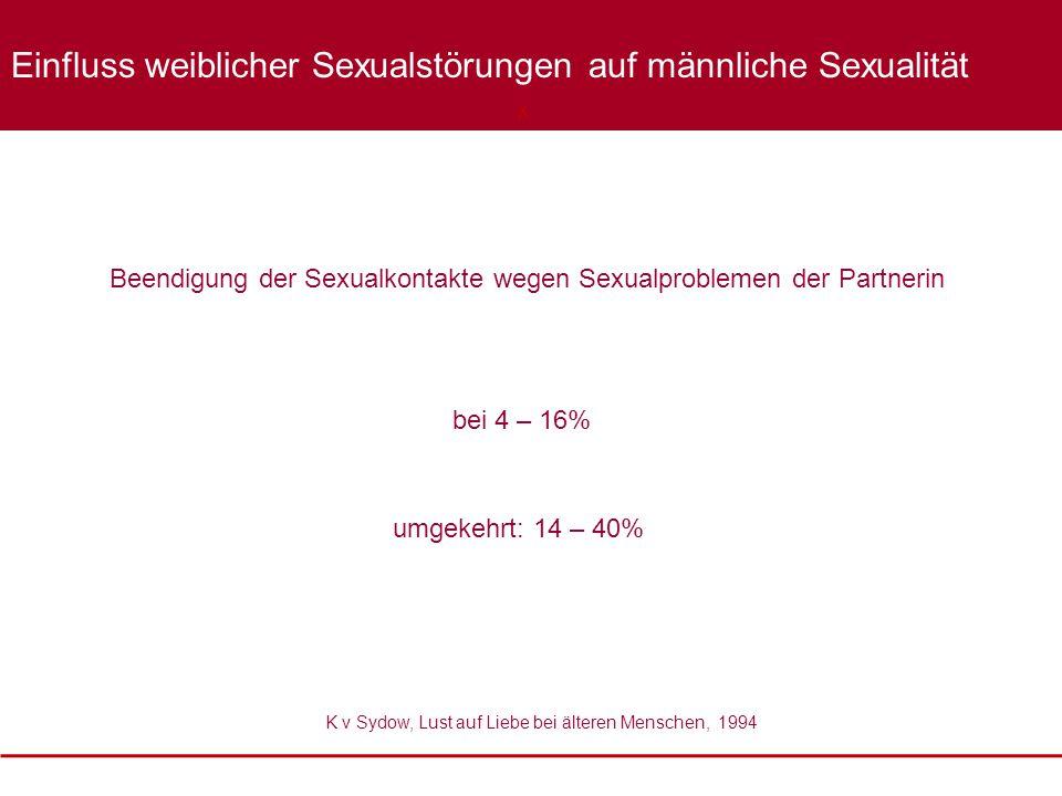 Einfluss weiblicher Sexualstörungen auf männliche Sexualität