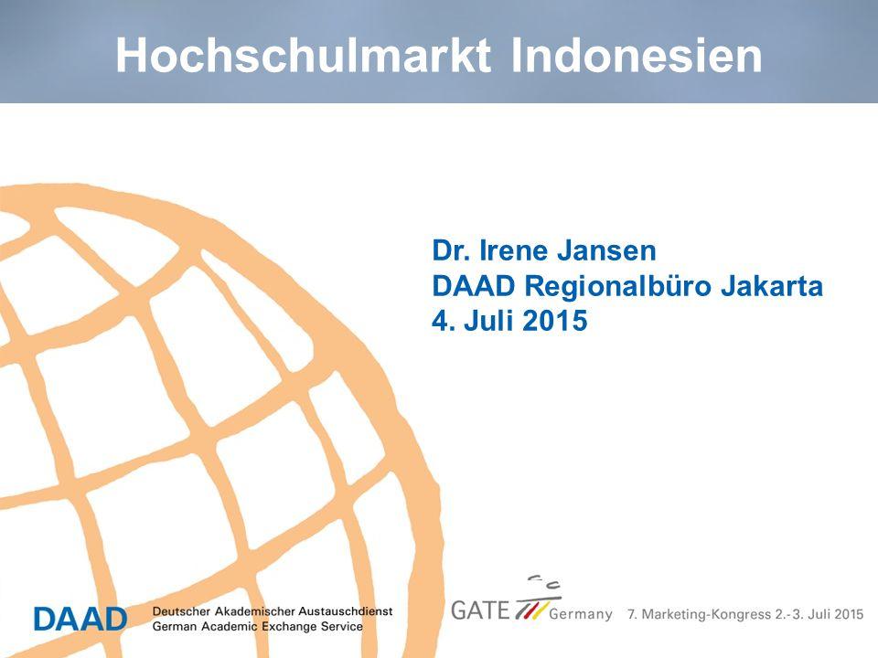 Dr. Irene Jansen DAAD Regionalbüro Jakarta 4. Juli 2015