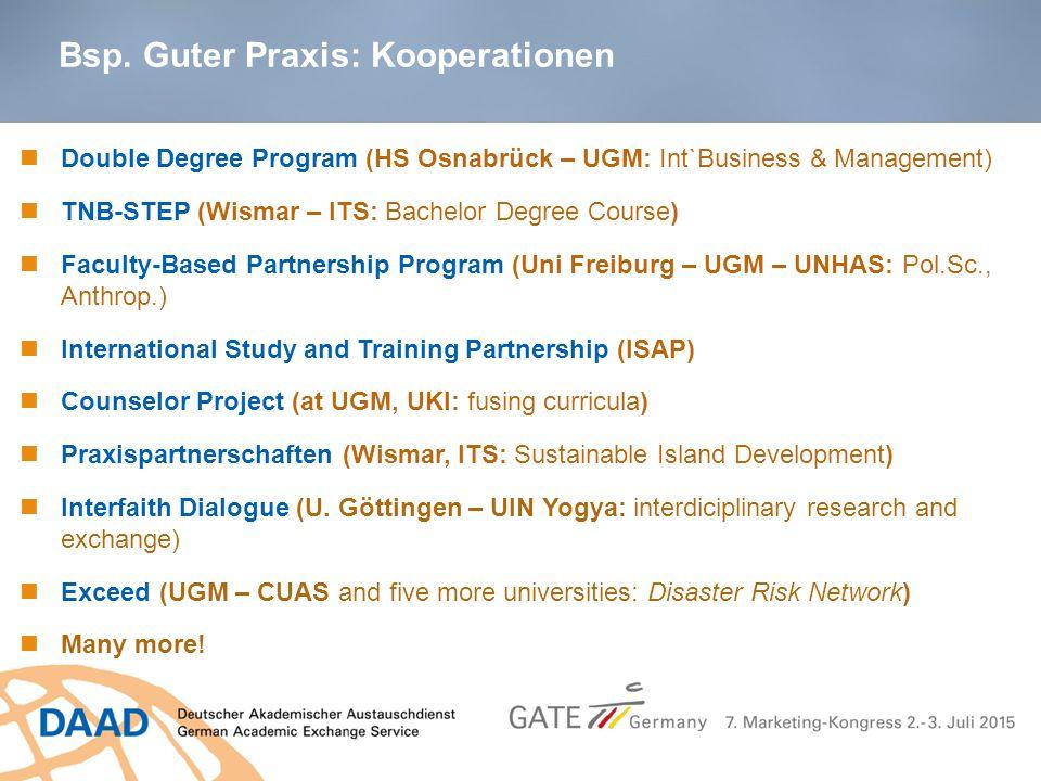 Bsp. Guter Praxis: Kooperationen