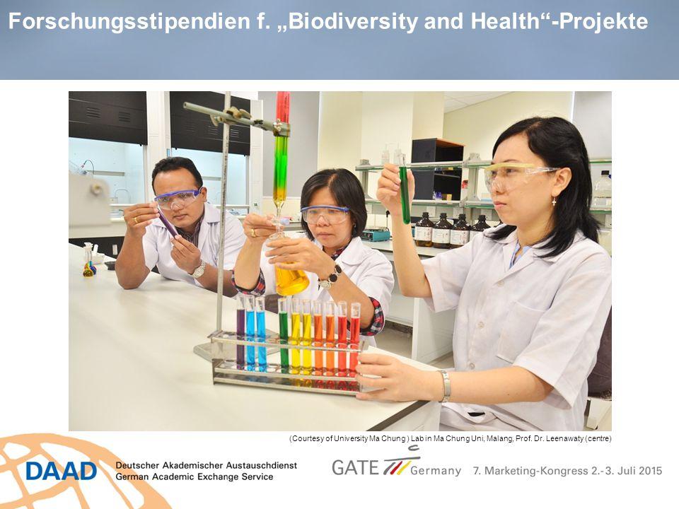 """Forschungsstipendien f. """"Biodiversity and Health -Projekte"""