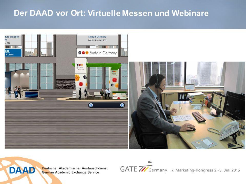 Der DAAD vor Ort: Virtuelle Messen und Webinare
